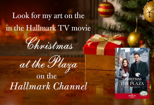 Christmas at the Plaza: A Hallmark Exclusive Movie Featuring Michael Storrings Art!